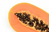 picture of groping  - Fresh Papaya ripping isolate on white background - JPG