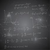 stock photo of mathematics  - Abstract Background with mathematical formulas - JPG