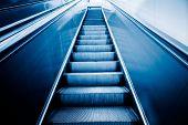 stock photo of escalator  - escalator of modern office building - JPG