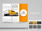 picture of dumper  - Stylish tri fold template - JPG