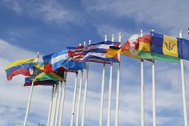 pic of flags world  - Flags of the world flying high in Argentina - JPG