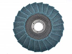 pic of abrasion  - Abrasive wheels on a white background in studio - JPG