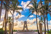Palm Beach, Florida, USA clock tower on Worth Ave. poster
