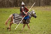Russian knight on horse