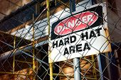 Danger Hard Hat Area Warning Sign