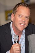 SAN DIEGO, CA - JULY 24: Actor Kiefer Sutherland attends a panel about his hit tv show,