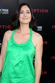 LOS ANGELES - JUL 13:  Carrie-Anne Moss arrive at the Inception Premiere at Grauman's Chinese Theate