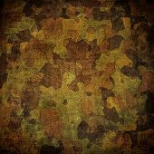 stock photo of camo  - dingy camouflage on natural canvas - JPG