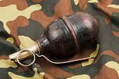 World War Two Soviet hand grenade at Camo