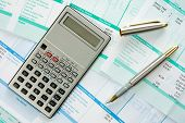 stock photo of payroll  - calculator - JPG