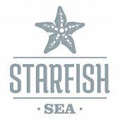 Starfish Sea Logo. Simple Illustration Of Starfish Sea Logo For Web poster