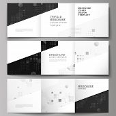 The Black Colored Minimal Vector Illustration Of Editable Layout. Modern Creative Covers Design Temp poster