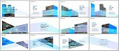 Presentations Design, Portfolio Vector Templates With Architecture Design. Abstract Modern Architect poster