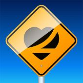 picture of traffic sign  - Belt up - JPG