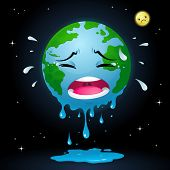 picture of sob  - An illustration for global warming theme.
