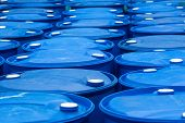 pic of drums  - Chemical Plant Plastic Storage Drums,  Industry Outdoors