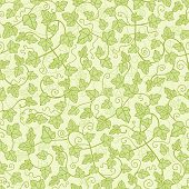 Ivy plants seamless pattern background