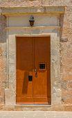 foto of maltese-cross  - Detail of the door of the old Bingemma chapel in Malta - JPG