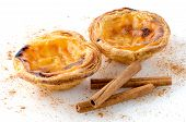 pic of pasteis  - Pasteis de nata typical pastry from Lisbon  - JPG