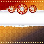 pic of rakhi  - shiny rakhi vector background with space for your text - JPG