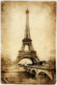 vintage Parisian cards series -Eiffel tower