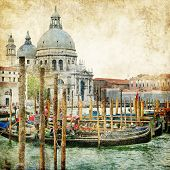 picture of gondolier  - pictorial Venice  - JPG