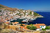 stock photo of hydra  - pictorial view of Hydra island  - JPG