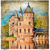 medieval castle - artwork in painting style (from my castles collection)