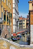 image of gondolier  - romantic Venetian canals - JPG