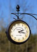 stock photo of gare  - terminal clock time railroad clock autumn new - JPG