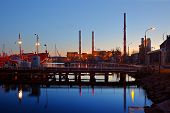 stock photo of chp  - Pipes heat power stations in Gdansk Poland - JPG
