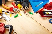 stock photo of pliers  - Construction tools - JPG
