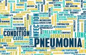 stock photo of pneumonia  - Pneumonia Concept as a Medical Disease Art - JPG