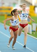 BARCELONA - JULY, 14: M. Curylo(L) and P. Wyciszkiewicz(R) of Poland competes on 4X400 Relay of the