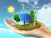 stock photo of generator  - Renewable energy sources - JPG