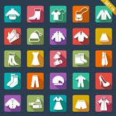 stock photo of coat tie  - Clothes icons - JPG