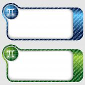 Set Of Two Abstract Text Frames With Pi Sign