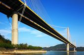 picture of hong kong bridge  - Suspension bridge in Hong Kong - JPG