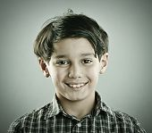 picture of little boys only  - Little cute boy posing for retro style photography - JPG