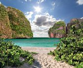 stock photo of phi phi  - Maya bay of Phi - JPG
