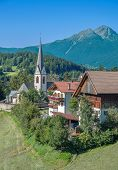 stock photo of south tyrol  - the idyllic Village of Hafling near Merano in South Tyrol, Trentino, Italy