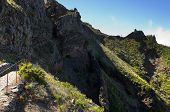 Pico Do Areeiro Trek Through Wall And Viewpoint, Madeira