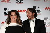 LOS ANGELES - FEB 10:  Melissa McCarthy, Ben Falcone at the AARP