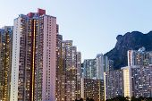 stock photo of public housing  - Public housing in Hong Kong - JPG