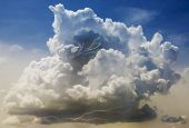 pic of striking  - A Building Cumulonimbus Thundercloud with Lightning Strikes Within It