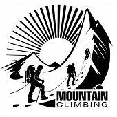 image of mountain-climber  - Climbing a mountain - JPG