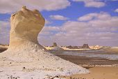 picture of sahara desert  - Chalk formation in White Desert Farafra Egypt