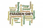 image of divergent  - Paradigm Shift Word Cloud on White Background - JPG