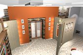 image of premises  - Interior color slide premises of a small cafe - JPG