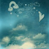 foto of moon stars  - Summer Sky Poster  - JPG